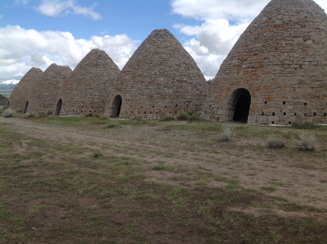 Charcoal kilns in Utah, built by the Portuguese, long ago.